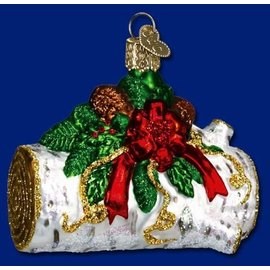 Old World Christmas OWC Yule Log CLOSEOUT