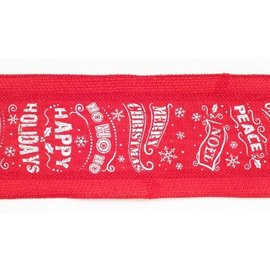 Melrose Melrose Wired Polyester Ribbon  Red 4 in x10 yards CLOSEOUT
