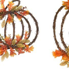 Melrose Melrose Grapevine Pumpkins Assorted 20 inch CLOSEOUT