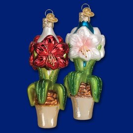 Old World Christmas OWC Amaryllis Ornament CLOSEOUT