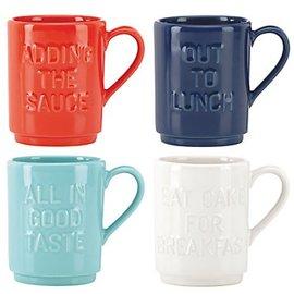 Kate Spade New York Kate Spade NY Stacking Mugs Words set of 4 CLOSEOUT
