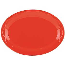 Kate Spade New York Kate Spade NY Platter 14 inch Sculpted Scallop Red CLOSEOUT