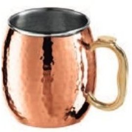 OGGI OGGI Copper Plated Stainless Steel Hammered Moscow Mule Mug 18 oz