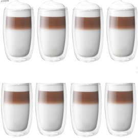 Zwilling J.A. Henckels ZWILLING Sorrento Double Wall Latte Glass 11.8oz 8 pc Set Promo