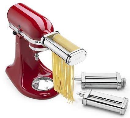 KitchenAid Stand Mixer Attachment Pasta Roller & Cutter (includes  fettuccine & spaghetti) KSMPRA