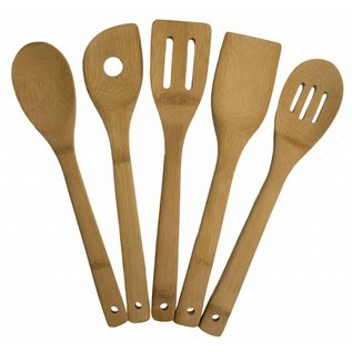 Totally Bamboo Totally Bamboo 5 pc Bamboo Utensil Set 12 inch
