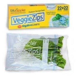 Aureus Product Innovations, Inc. Bluapple VeggieZips w/ Hydroliners 22 pack