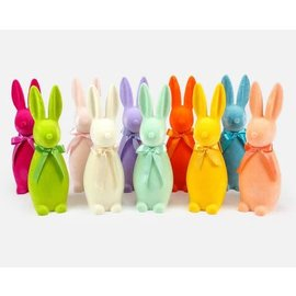 """One Hundred 80 Degrees One Hundred 80 Degrees Flocked Button Nose Bunny 16"""" Assorted"""