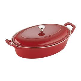 Staub Staub Ceramic Oval Covered Baking Dish 14 inch Cherry