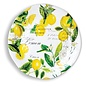 Michel Design Works Michel Design Works Melamine Serveware Large Round Platter Lemon Basil