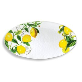 Michel Design Works Michel Design Works Melamine Serveware Oval Platter Lemon Basil