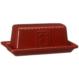 Signature Housewares Sorrento Covered Butter Dish Ruby
