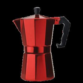 Primula Primula Stovetop Aluminum Espresso Maker 6 Cup Red