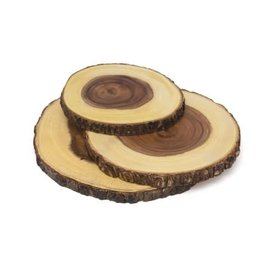 Lipper Lipper Acacia Slab Boards with Tree Bark set of 3
