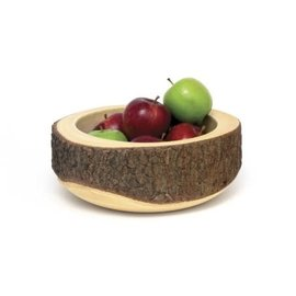 Lipper Lipper Acacia Slab Tree Bark Bowl
