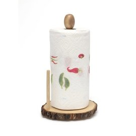 Lipper Lipper Acacia Tree Bark Standing Paper Towel Holder