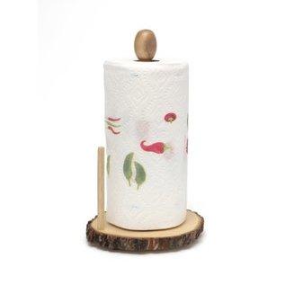 Lipper Lipper Acacia Tree Bark Standing Paper Towel Holder