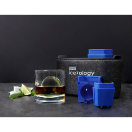 Dexas ice•ology 2 Count Clear Ice Tray Large Sphere