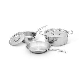 Heritage Steel/Hammer Stahl Heritage Steel Essential Cookware Set 5 pc