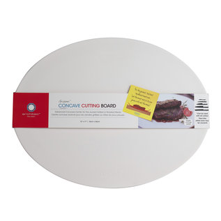Architec CONCAVE Poly Concave Cutting Board 13 in. x 17 in. White