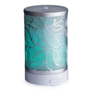 Candle Warmers, Etc. Candle Warmers Ultrasonic Essential Oil Diffuser Silverleaf