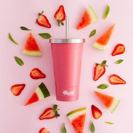 Cheeki USA Cheeki Insulated Tumbler with Straw Dusty Pink 17 oz