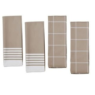 Zwilling J.A. Henckels Zwilling Kitchen Towels Taupe 4 pc Set