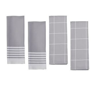 Zwilling J.A. Henckels Zwilling Kitchen Towels Grey 4 pc Set