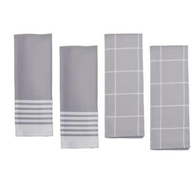 Zwilling Kitchen Towels Grey 4 pc Set