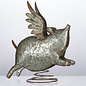 DeRose Designs DeRose Designs Galvanized Metal Flying Pig 11 inch
