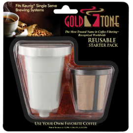 Harold Import Company Inc. HIC Goldtone Reusable Coffee Filter Starter Pack