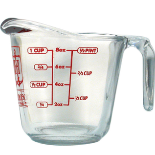 Harold Import Company Inc. HIC Measuring  Cup Oven Proof 1 Cup