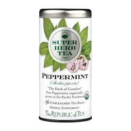 Republic of Tea The Republic of Tea Organic Peppermint SuperHerb Tea Round Bags 36 Serving Tin