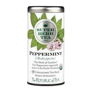 Republic of Tea The Republic of Tea Organic Peppermint SuperHerb Tea Round Bags 36 Serving Tin