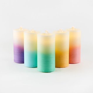 One Hundred 80 Degrees One Hundred 80 Degrees Water Wick LED Pillar Candle Fountain Pastel Ombre Assorted Sold Individually