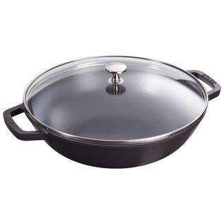 Staub Staub Wok Perfect Pan 4.5 Qt Matte Black