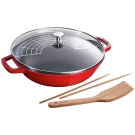 Staub Staub Wok Perfect Pan 4.5 Qt Cherry