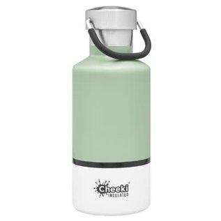 Cheeki USA Cheeki Classic Insulated Bottle Pistachio + White 13 oz CLOSEOUT/ NO RETURNS