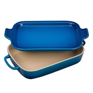 Le Creuset Le Creuset Rectangular Dish w/ Platter Lid Marseille 14.75x9x2.5 inch 2.75 Qt