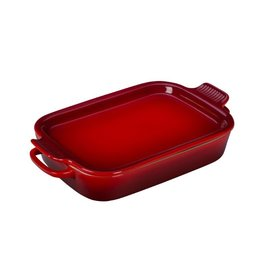 Le Creuset Le Creuset Rectangular Dish w/ Platter Lid Cerise14.75x9x2.5 inch 2.75 Qt