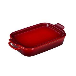 Le Creuset Le Creuset Rectangular Dish w Platter Lid Cerise14.75x9x2.5 inch 2.75 Qt