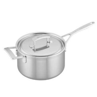 Demeyere Demeyere Industry Stainless Steel Saucepan with Helper Handle 4 Qt w Lid