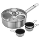 Demeyere Demeyere Resto Stainless Steel 4-Egg Poacher Set