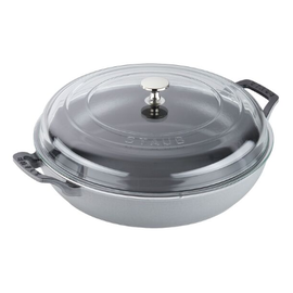 Staub Staub 3.5 Qt Braiser with Glass Lid Graphite Grey