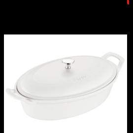 Staub Staub Ceramic Oval Covered Baking Dish 14 inch Matte White