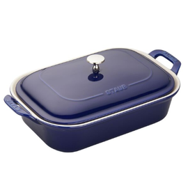 Staub Staub Ceramic Rectangular Covered Baking Dish 12 x 8 in Dark Blue