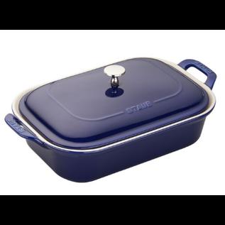 Staub Staub Ceramic Rectangular Covered Baking Dish 12 x 8 in Dark Blue