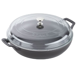 Staub Staub 3.5 Qt Braiser with Glass Lid Matte Black