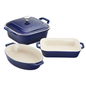 Staub Staub Ceramic Mixed Baking Dish 4pc Set Dark Blue