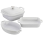 Staub Staub Ceramic Mixed Baking Dish 4pc Set White